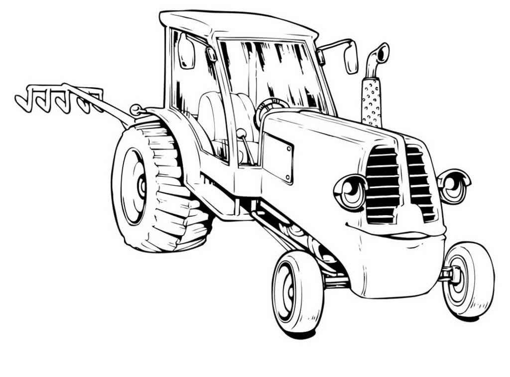 Раскраска для детей тракторы