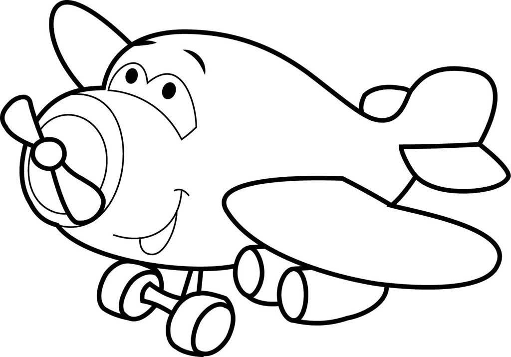 Картинка самолет для раскрашивания
