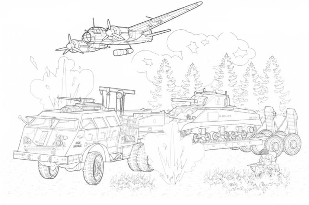 Раскраски Военная техника. Раскраски с танками, пушками ...