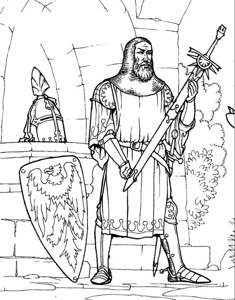 Раскраски Замки и рыцари