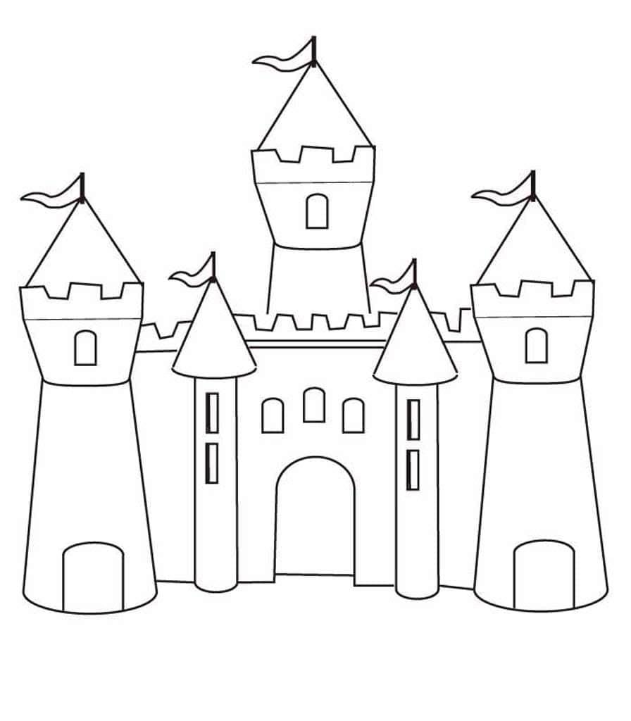 нарисовать замок поэтапно картинки второе состоит том