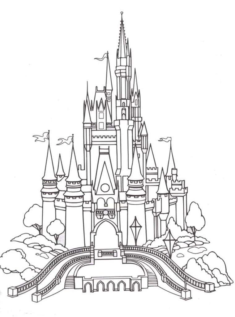сказочный замок раскраска базальта