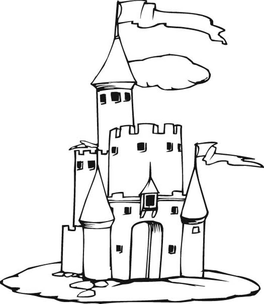 Замок рыцаря картинка для детей