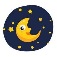 Раскраски Луна и звёзды