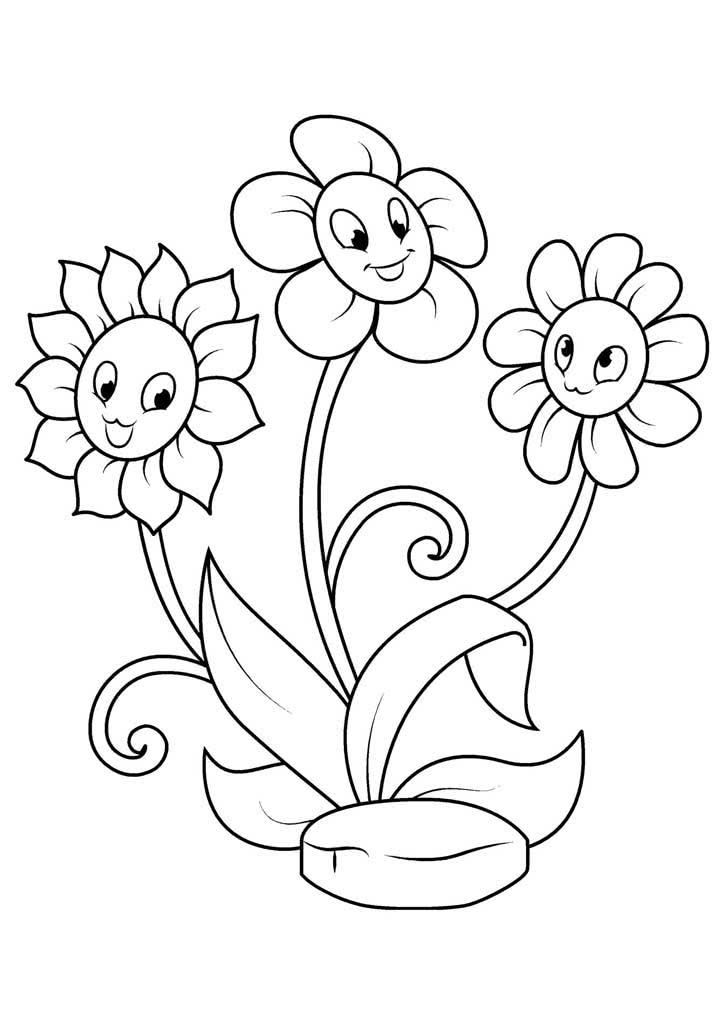 Раскраски и картинки цветочки