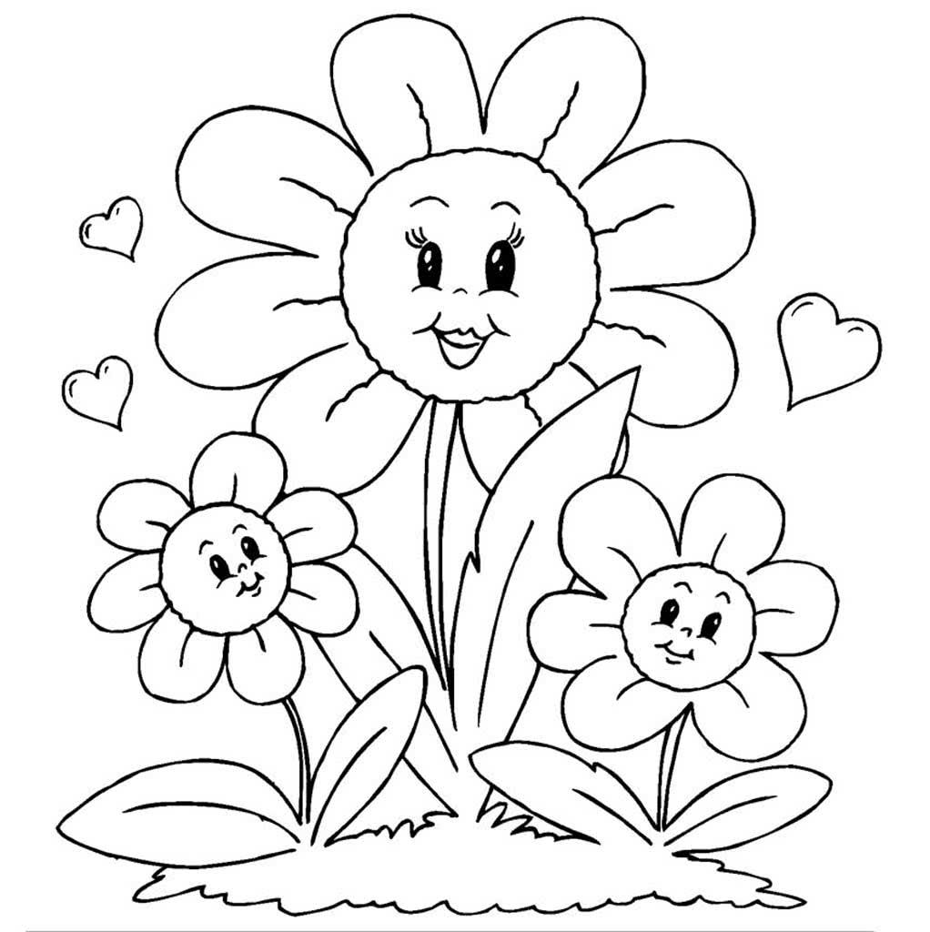 Картинки, раскраска с днем рождения цветы