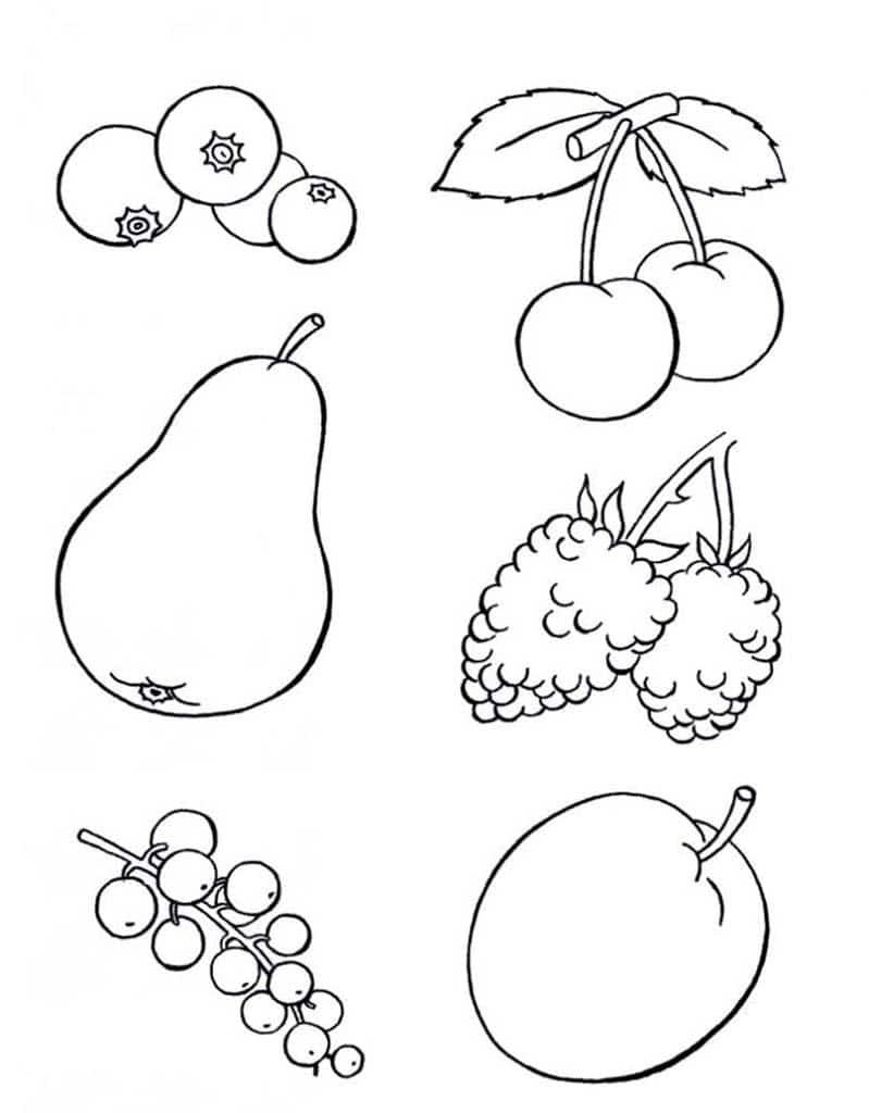 Картинки для детей фрукты распечатать