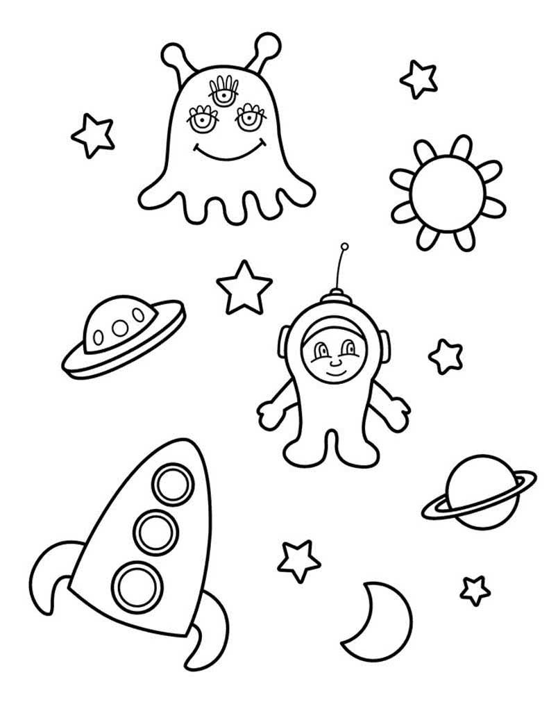 Раскраски Инопланетяне для детей 3-10 лет. Раскраски ...