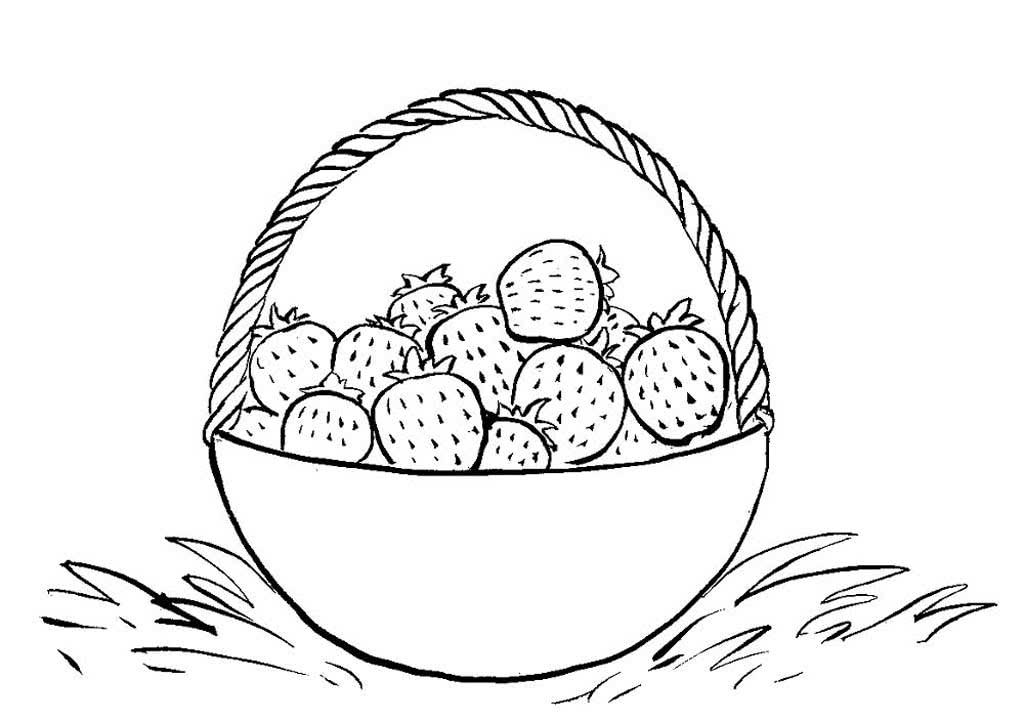 стараемся корзина с ягодами рисунок эти