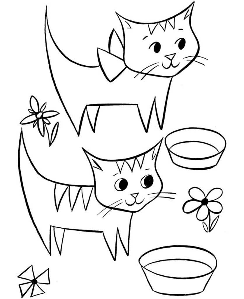 Раскраски Кошки и Котята. Подборка картинок с кошками. 30 ...