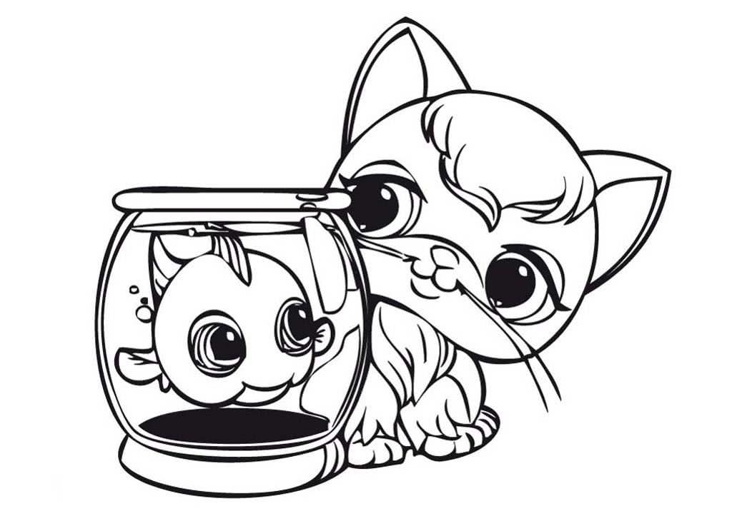 Раскраски Кошки и Котята