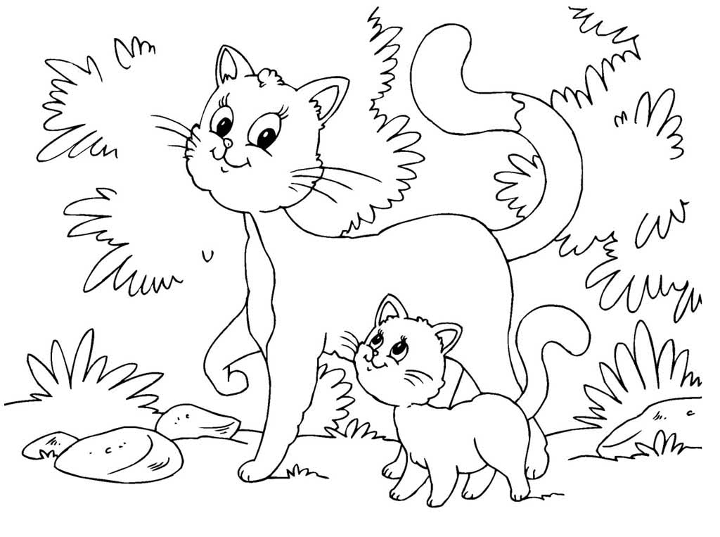 считается картинки раскраски кошки и картинки укладку