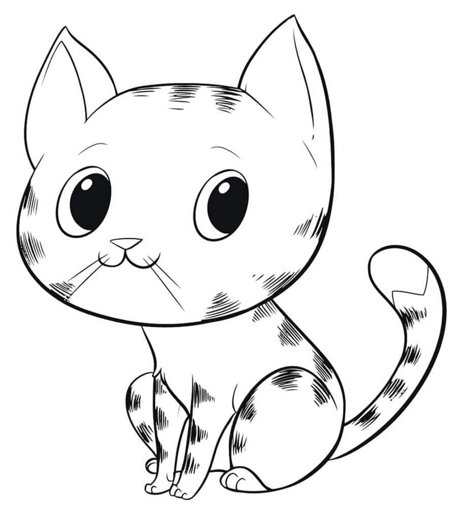 изображение котенка для раскрашивания