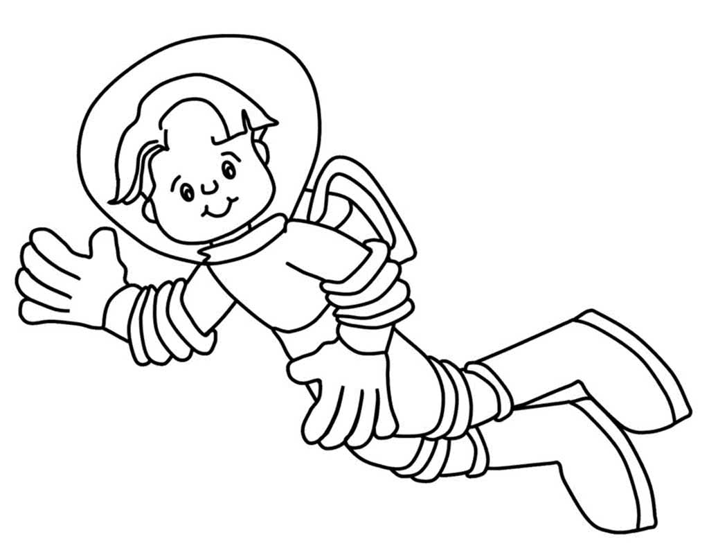 astronaut grabbing a star coloring page free printable - 957×718