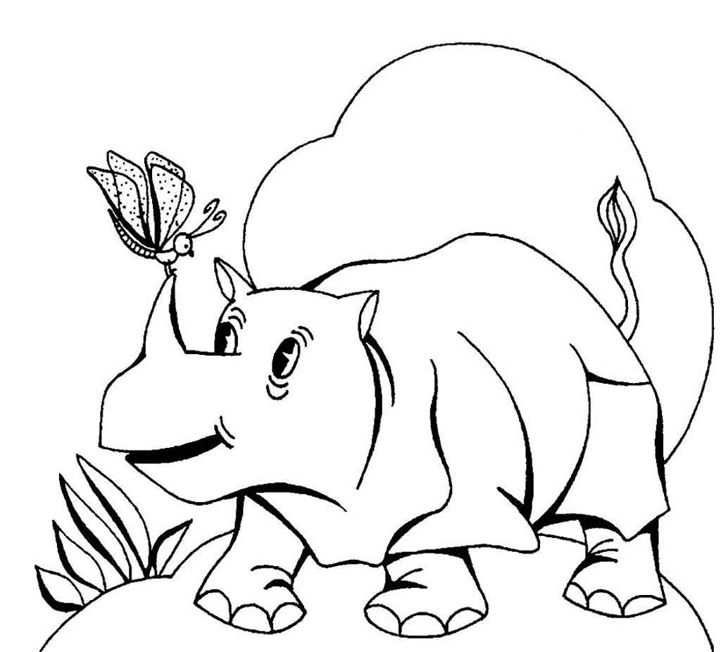 Раскраска животные красивые веселые сказочные