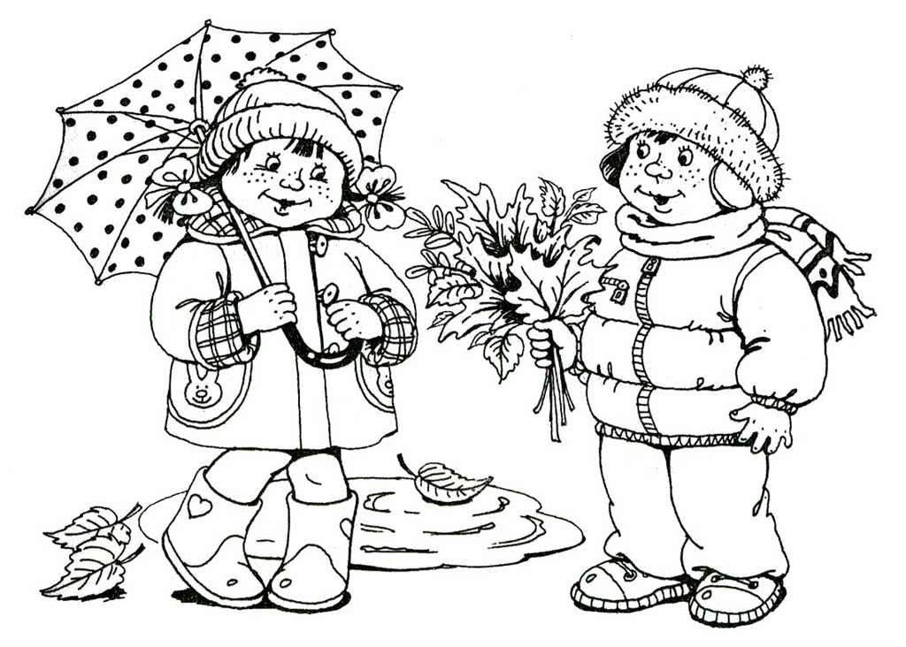 Картинки осень для детей распечатать