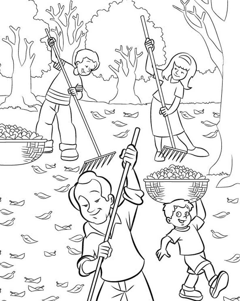 Рисунок труд осенью