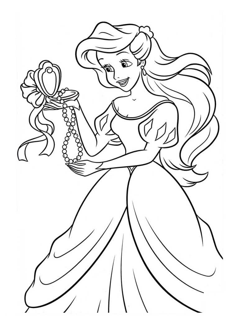 Раскраски принцесса Русалочка
