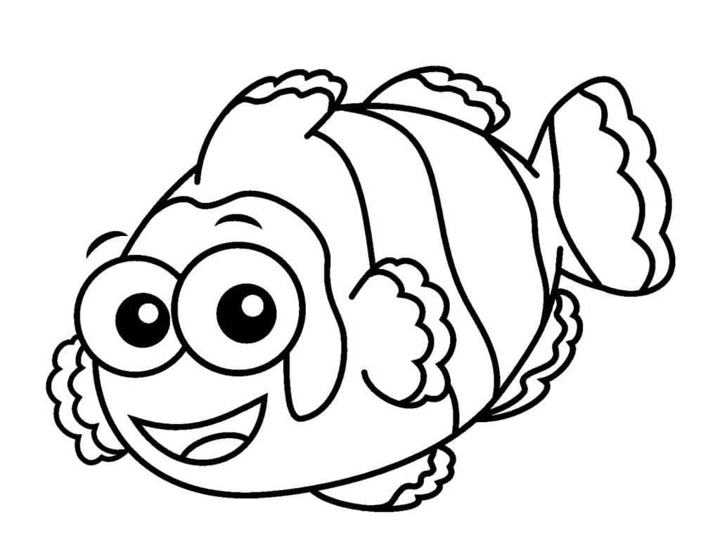 картинки мультяшных рыбок распечатать руками лучший