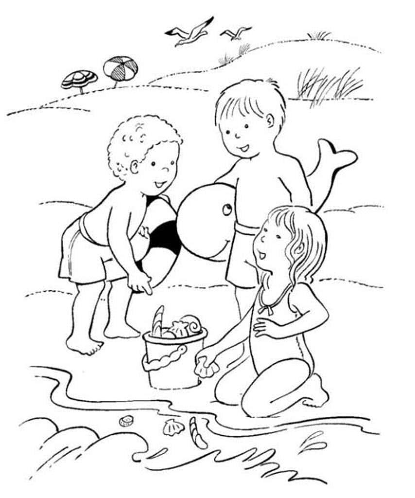 рисунок летние забавы