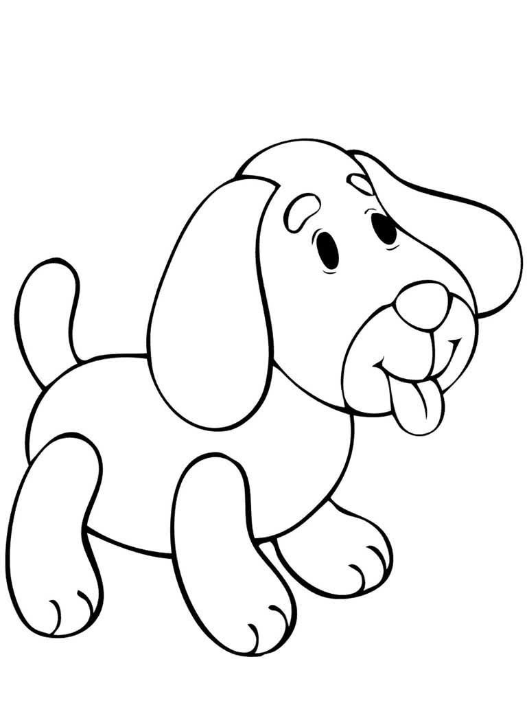 Раскраска собака картинки