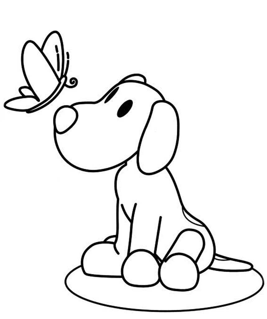 Раскраски Собаки и щенки