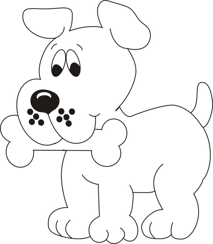 раскрашивание картинок собака выполнен высококачественных
