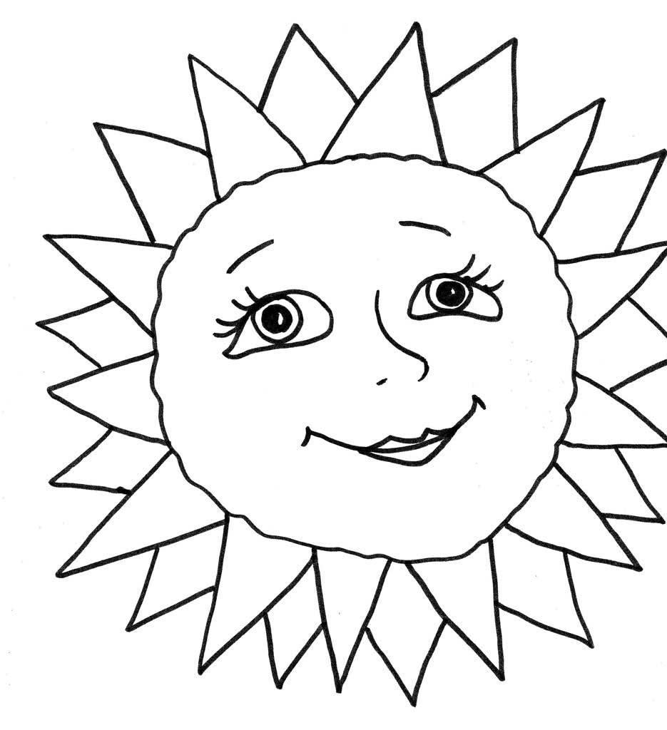 Картинки солнышка для распечатки