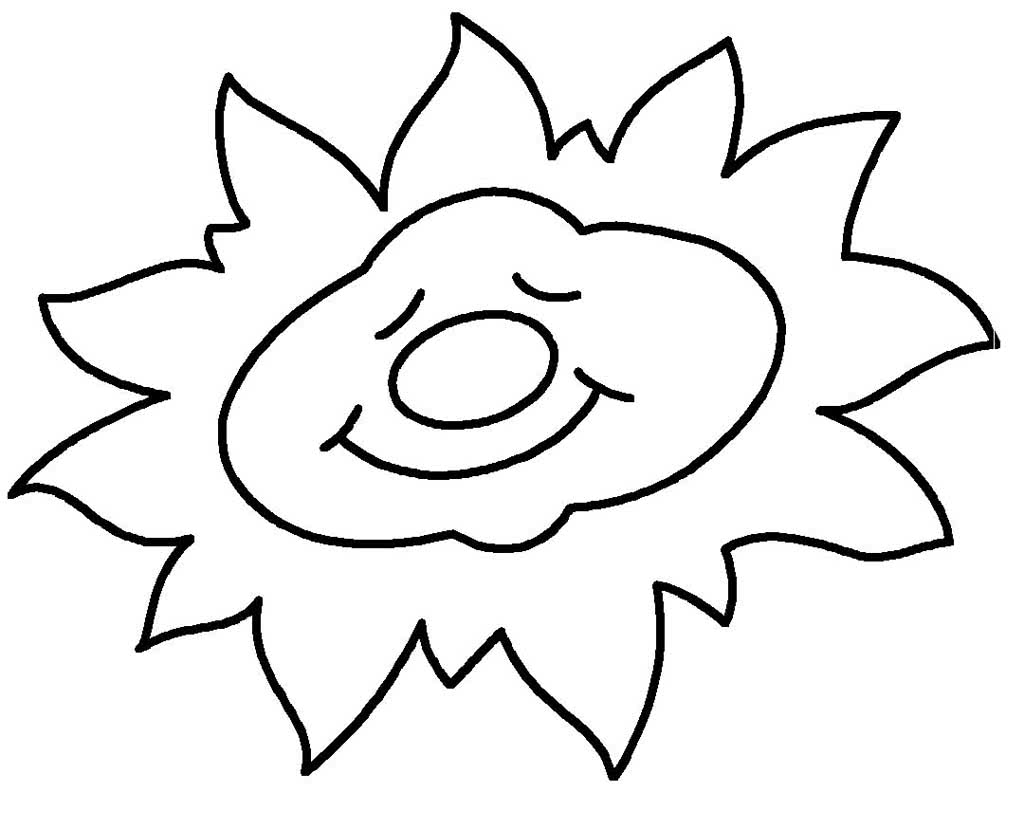 Картинки для раскраски солнце