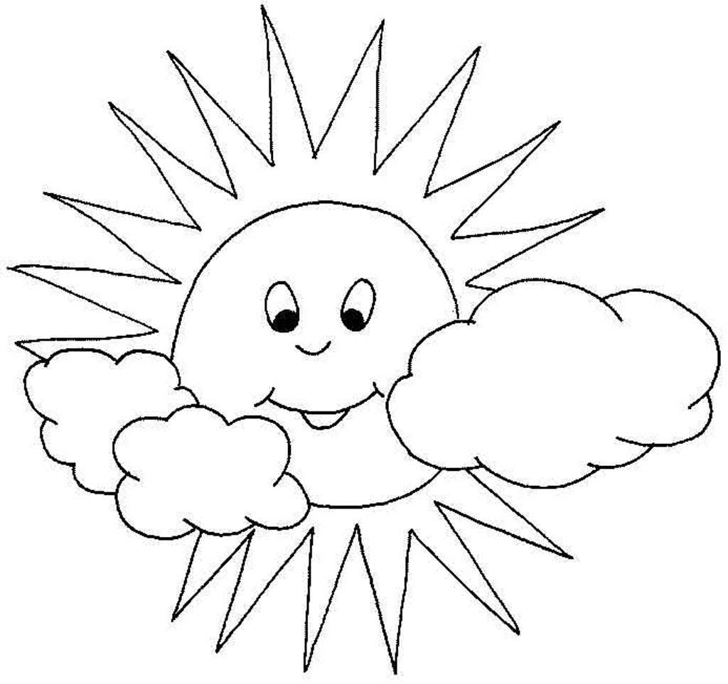 картинка для раскрашивания солнце всю жизнь