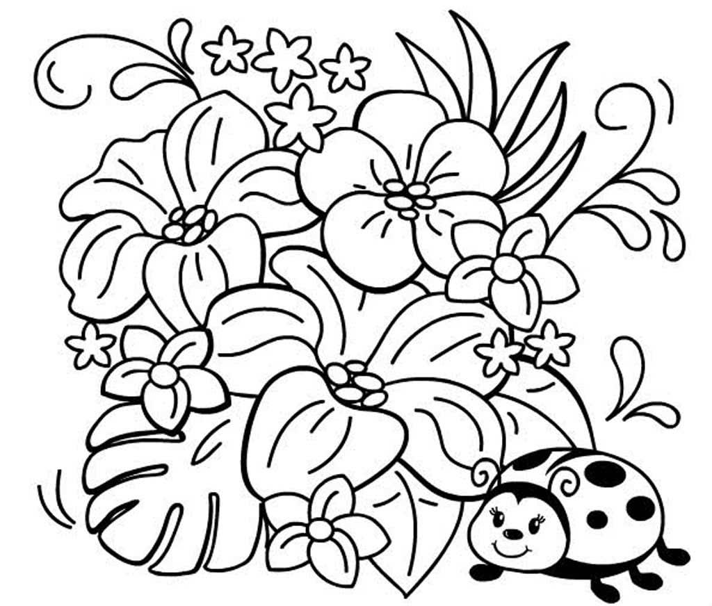 Картинки цветы разукрасить