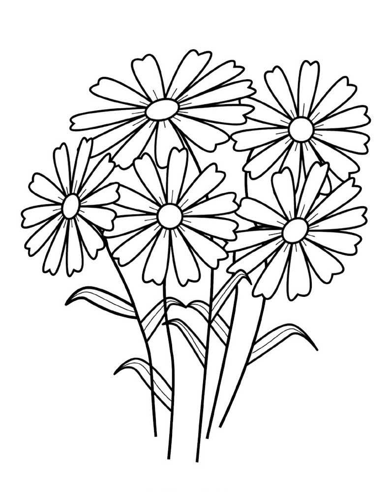 Букеты цветов раскраска для детей
