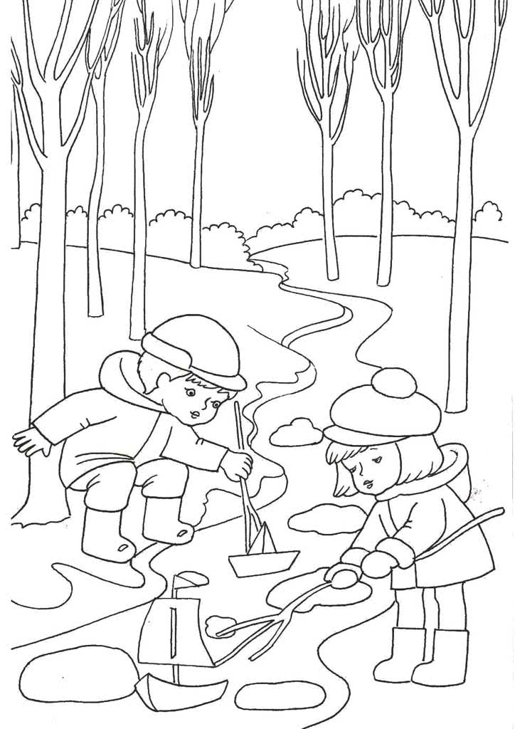 раскраски весна для детей 3 10 лет раскраски времена года