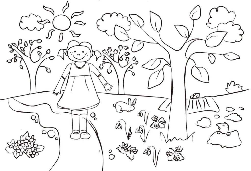 Картинки раскраски про весну сцене мужу