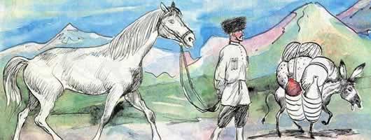 Осел и лошадь — аудио басня Толстого Л.Н.