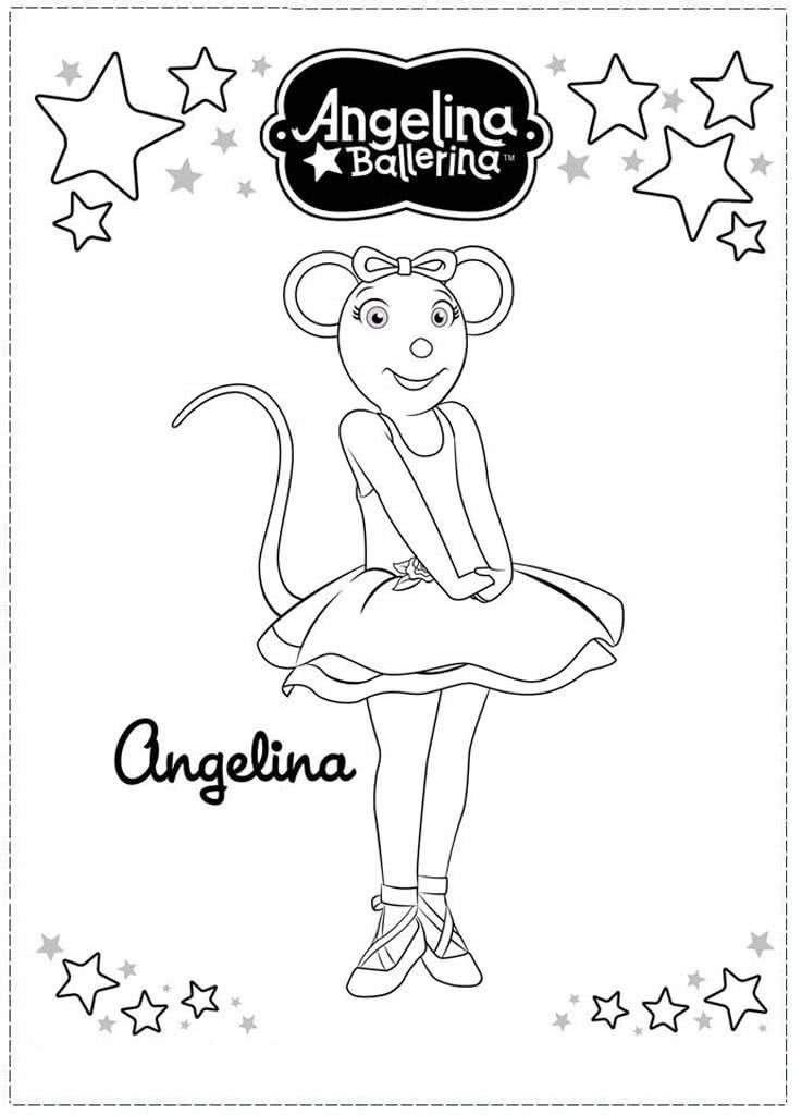 Раскраски Ангелина балерина