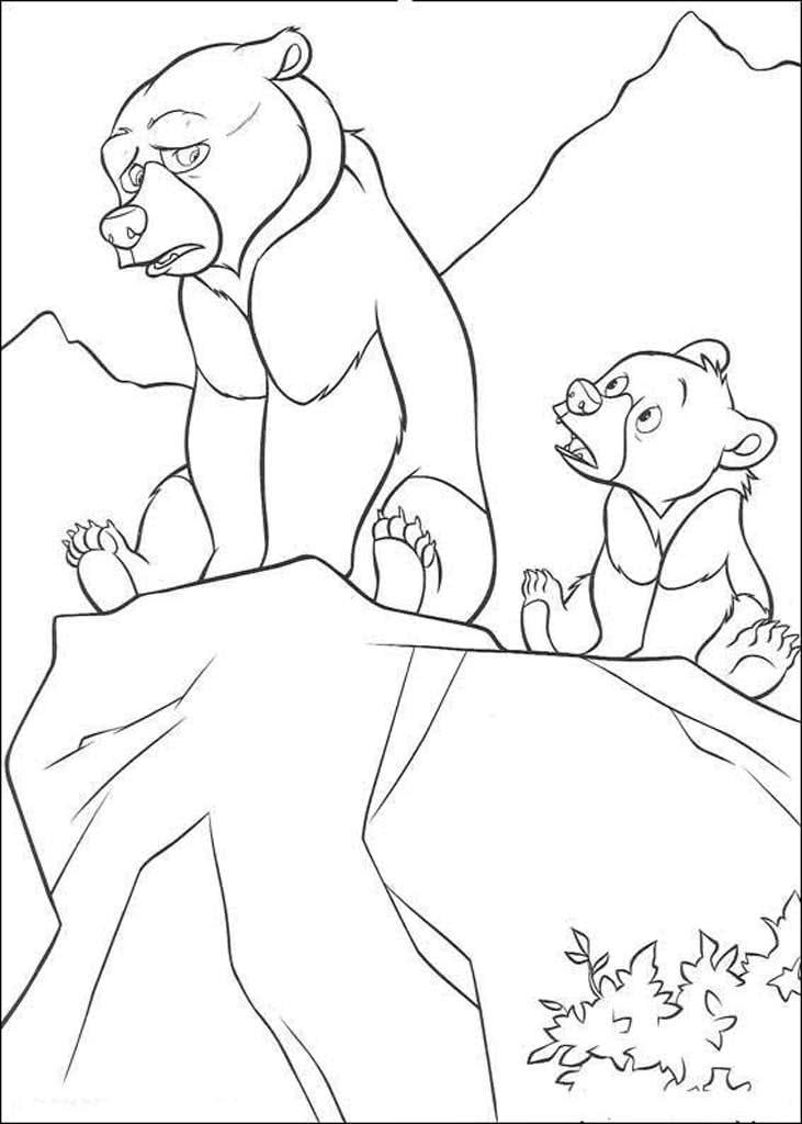 Раскраски Братец медвежонок