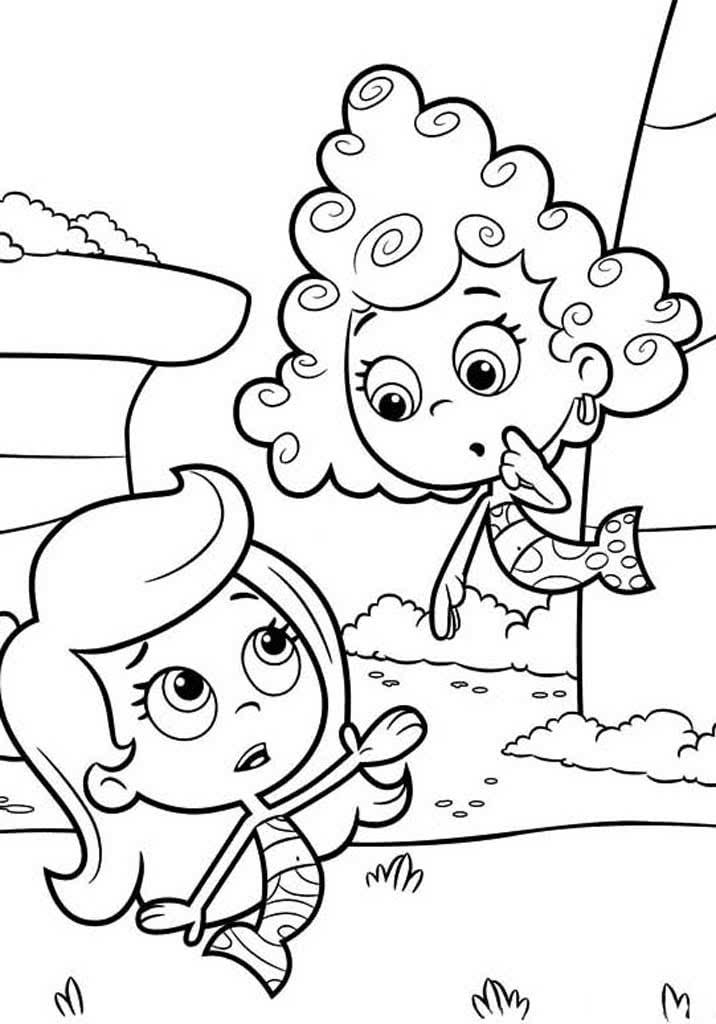 Раскраска Гуппи и пузырики