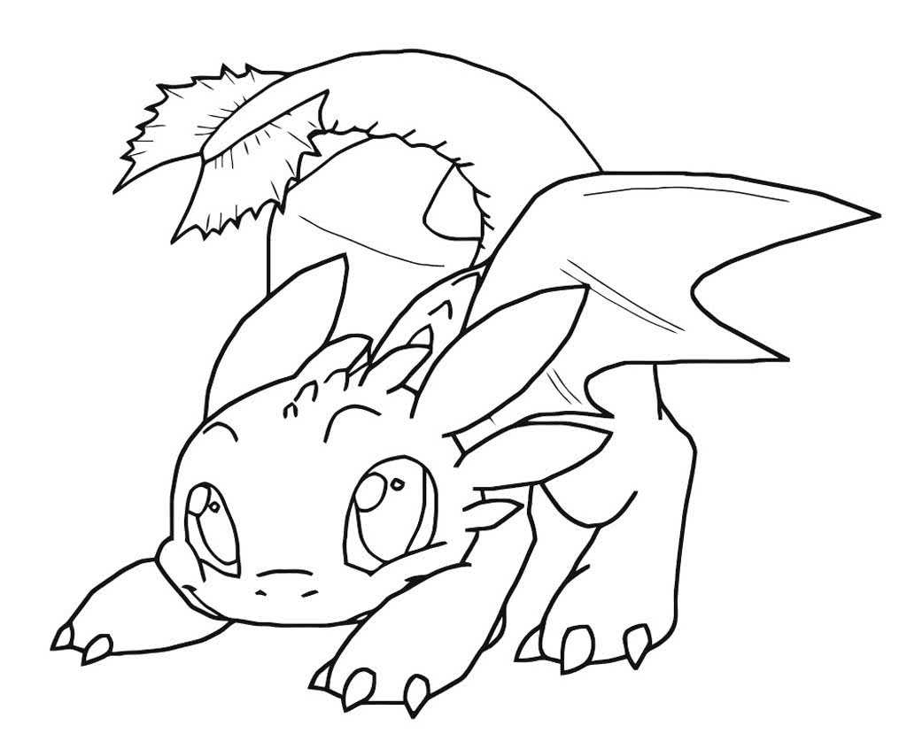 Раскраски Как приручить дракона