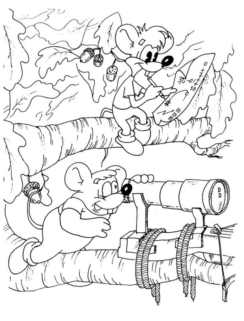 Раскраски Кот Леопольд