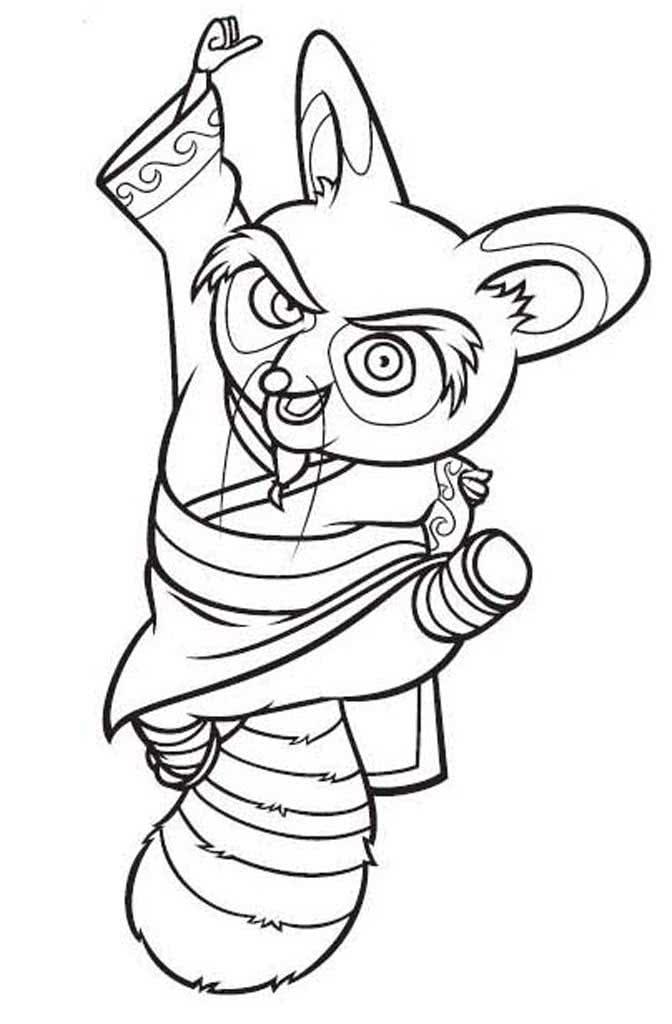 помощью этой картинки кунг-фу панда раскраска почему