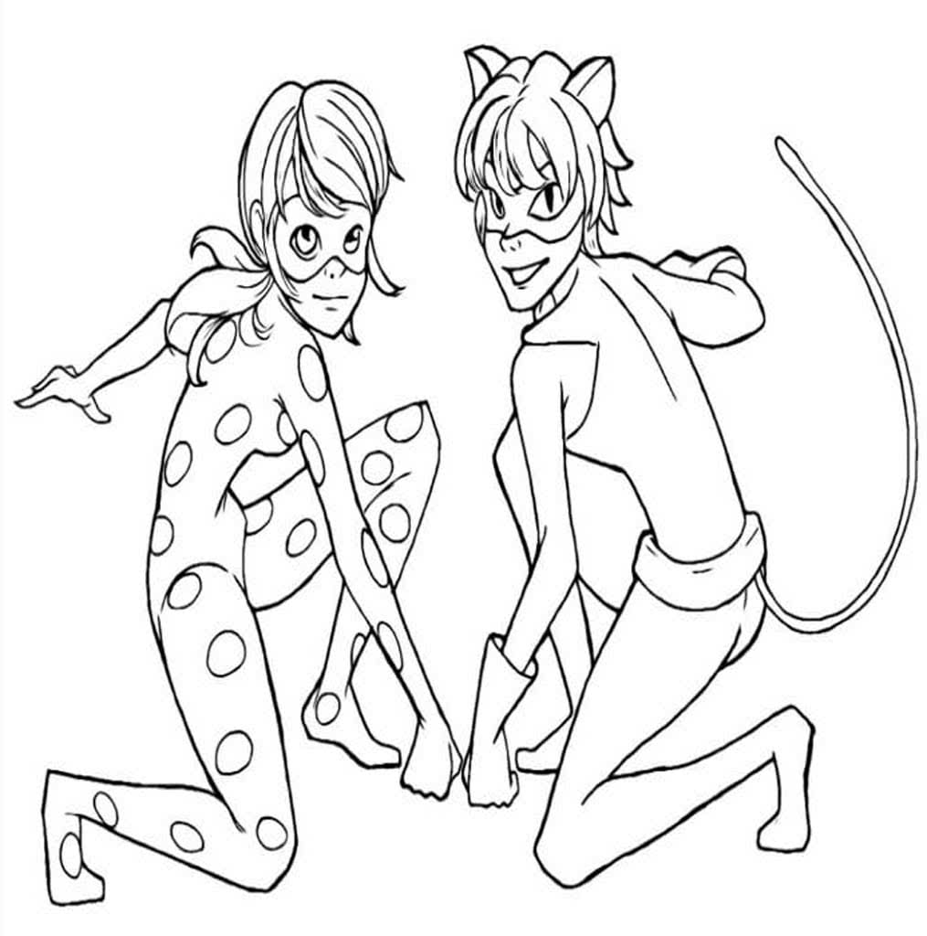 Раскраски Леди Баг и Супер Кот