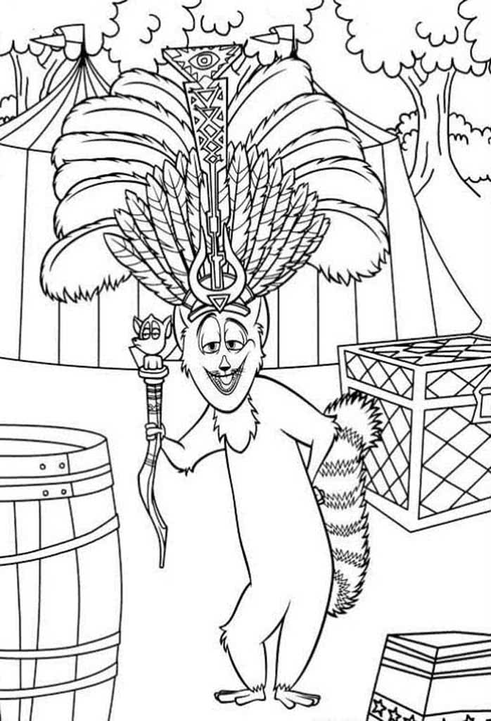 Раскраски Мадагаскар