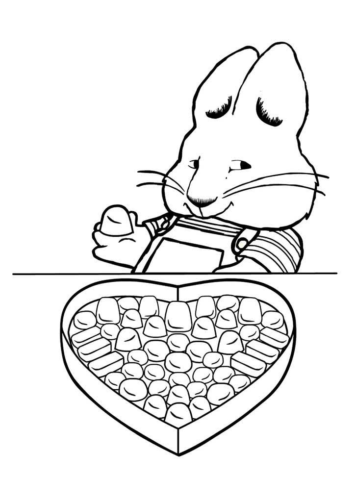 раскраски макс и руби раскраски из мультфильма про двух зайчат