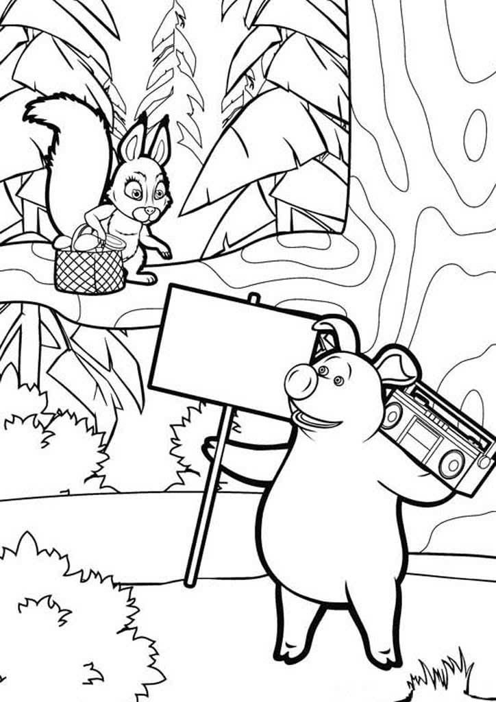 Картинки раскраски из мультика маша и медведь