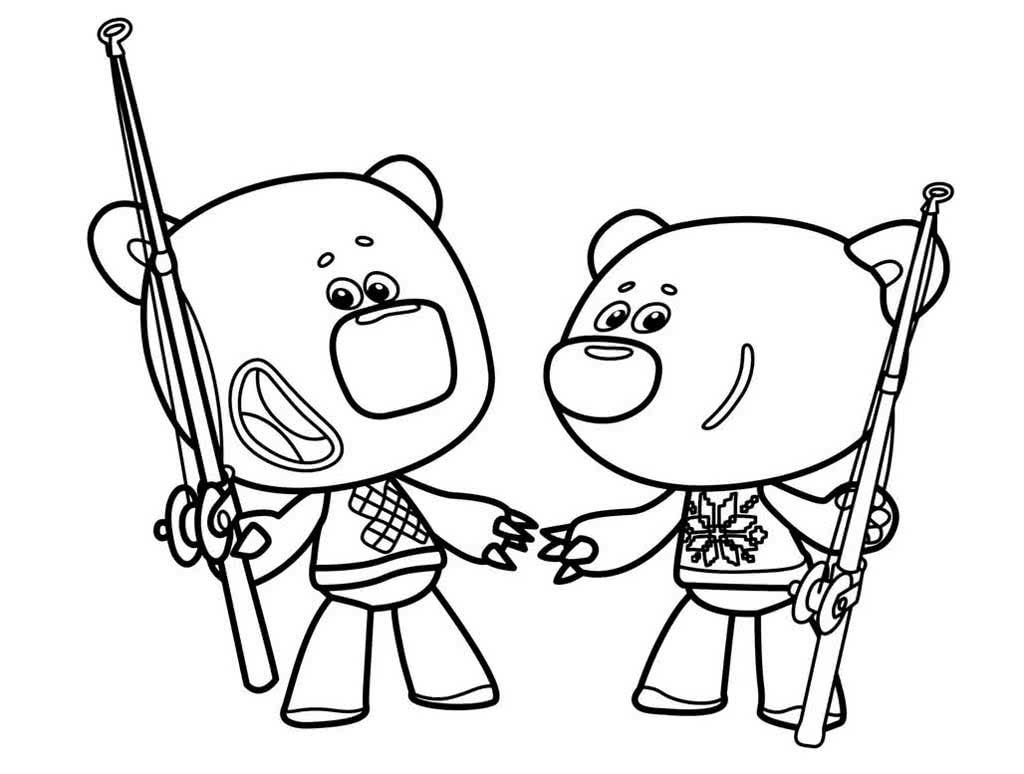 Раскраски Мимимишки. Раскраски из мультфильма про двух ...