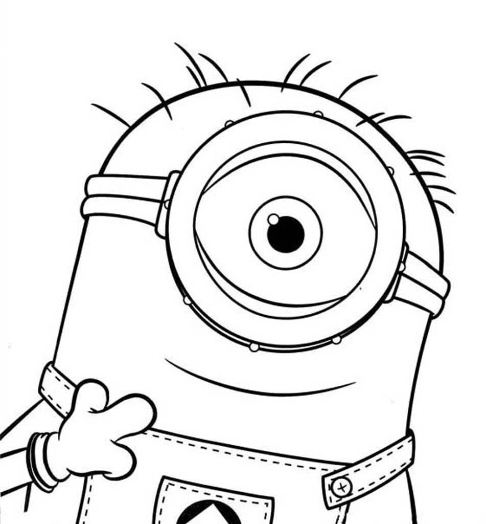 Раскраски Миньоны. Раскраски из мультфильма про миньонов.