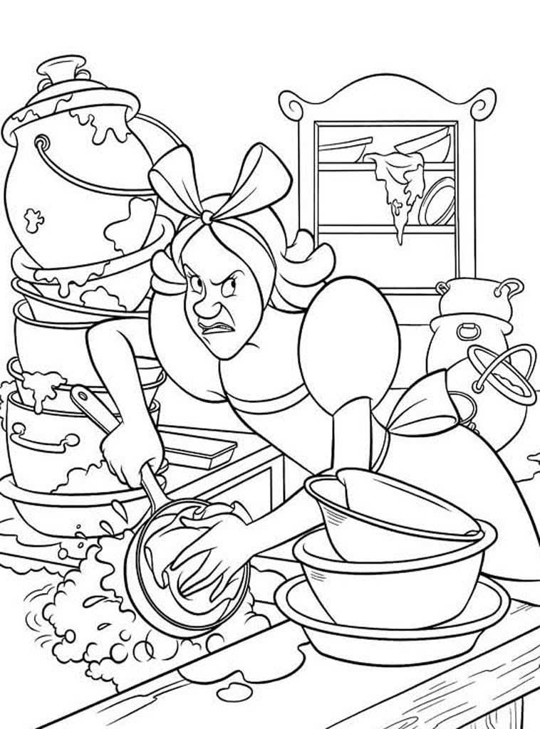 эффектное картинка мыть посуду раскраска специальные программы