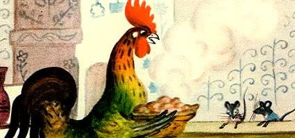 Петушок и два мышонка — украинская народная сказка