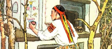 Старикова дочка и старухина дочка — украинская народная сказка